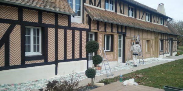 Renovation peinture poutre en bois par Steph Deco Orleans - 1