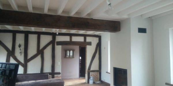 Renovation peinture poutre en bois par Steph Deco Orleans - 2