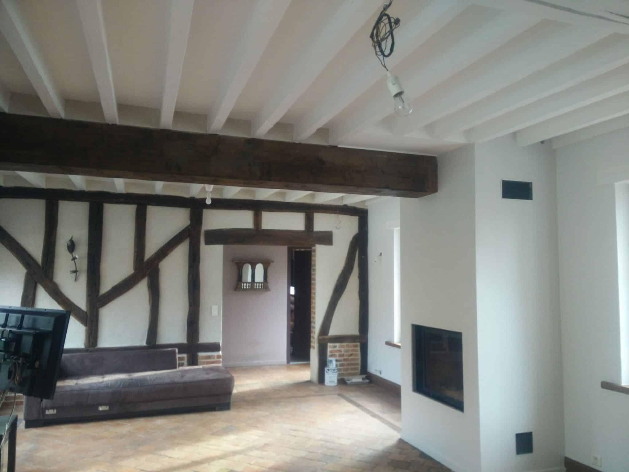 r alisations poutres en bois artisan peintre orl ans st ph d co. Black Bedroom Furniture Sets. Home Design Ideas