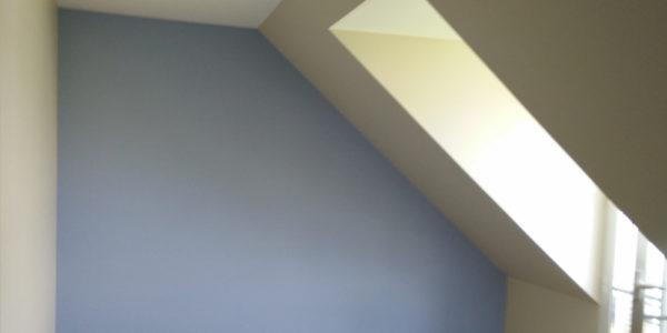 Chambre peinte en bleu