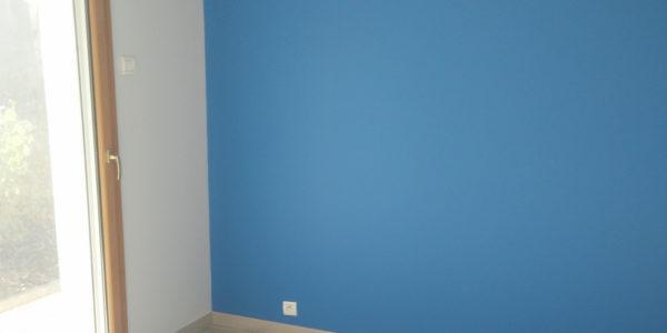 Peinture chambre bleue