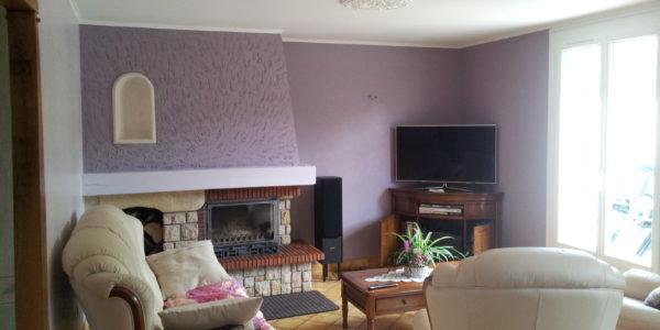 Renovation peinture pour salon par Steph Deco Orleans - 1
