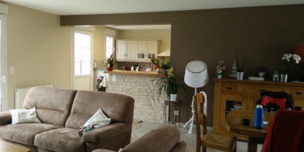 Renovation peinture pour salon par Steph Deco Orleans - 2